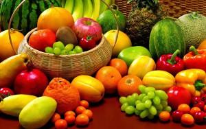 penjualan buah di hari idul fitri
