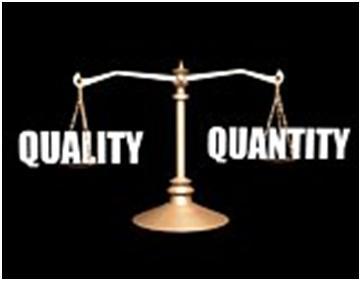 Artikel blog : kualitas vs kuantitas