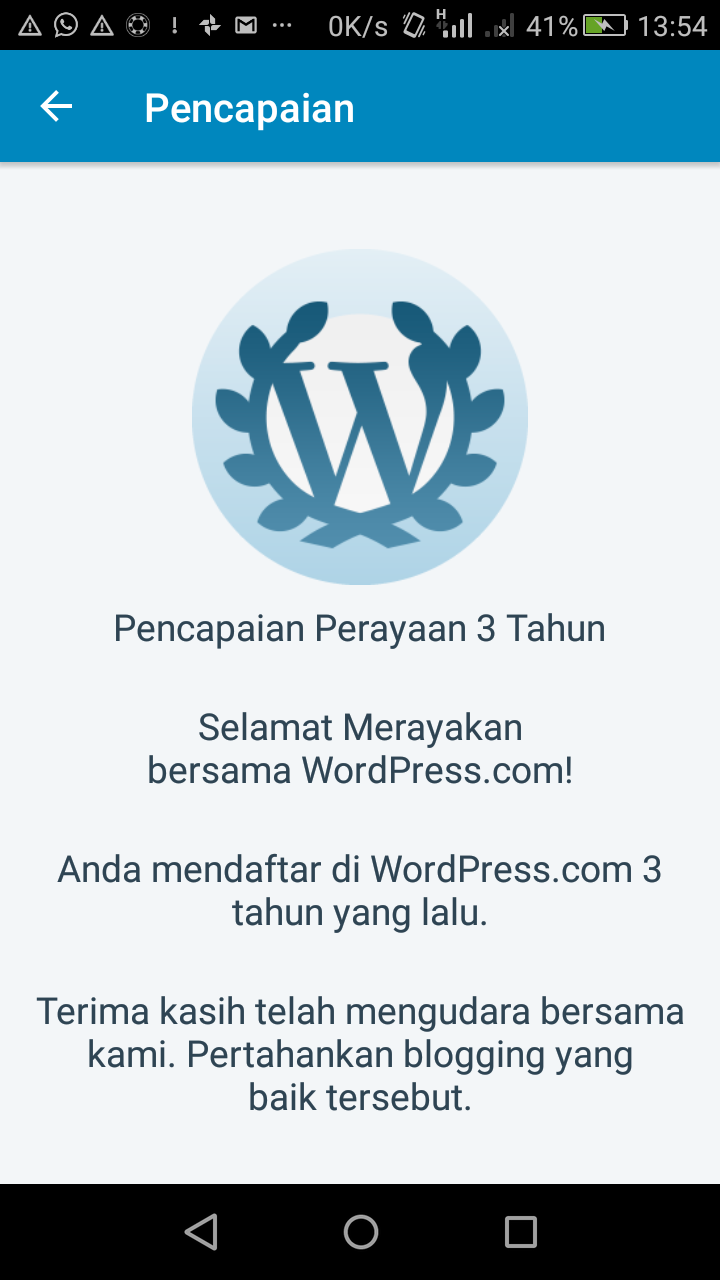 3 (tiga) tahun ngeblog di wordpress.com